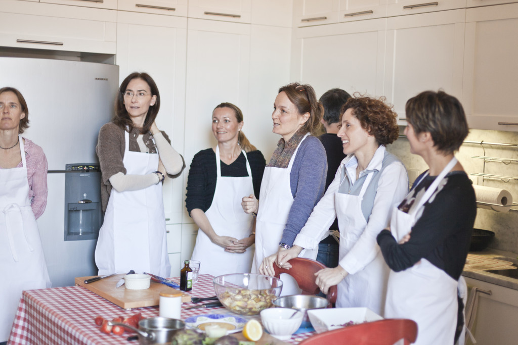 The all girls risotto class.